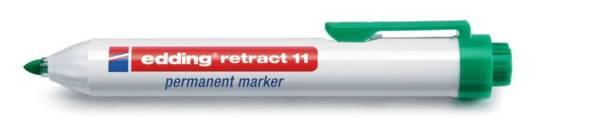 EDDING Permanentmarker Retract 1,5-3mm grün 11-004 Rundspitze nachfüllbar