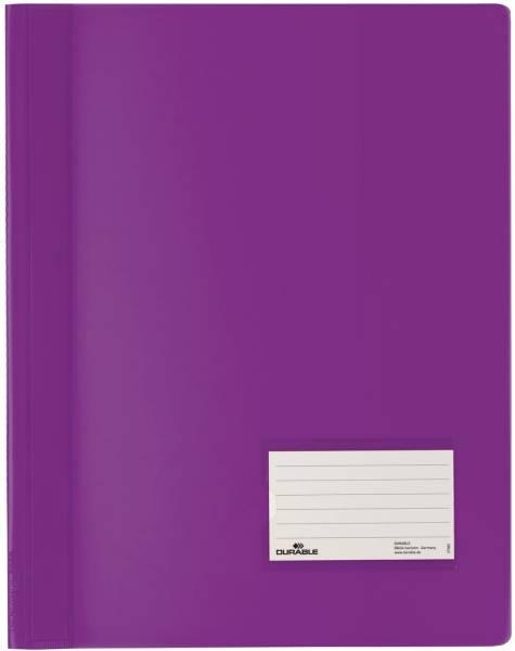 Schnellhefter DURALUX A4 überbreit, transluzente Folie, lila®