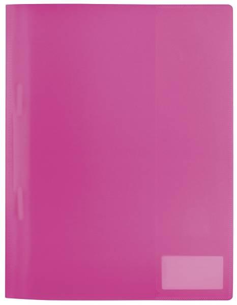Schnellhefter A4, PP, transluzent pink