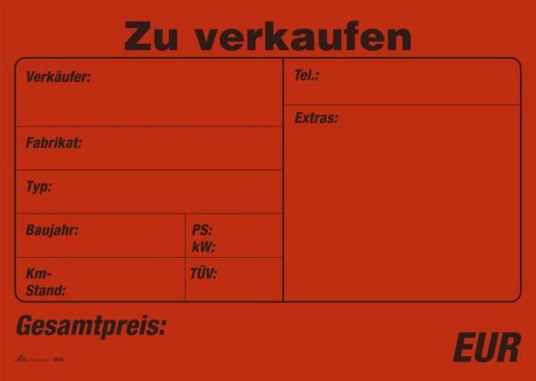RNK Plakatheft 24x34cm 10BL 1545 Kfz.Zu Verkaufen
