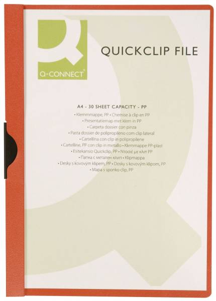 Klemm Mappe rot, Fassungsvermögen bis 30 Blatt