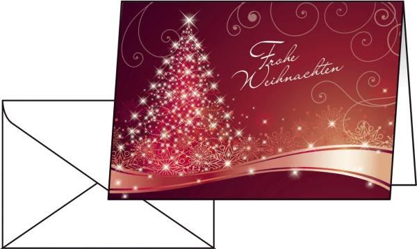 """Weihnachts Karten """"Christmas Swing"""" A6 (A5), 25 Karten"""