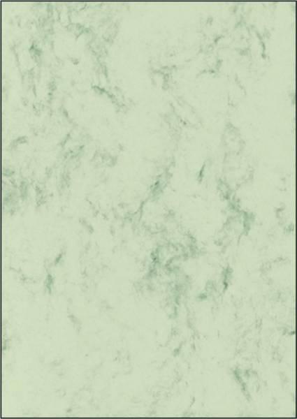 Marmor Papier, pastellgrün, A4, 90 g qm, 100 Blatt