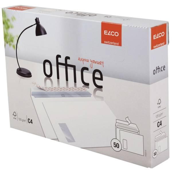ELCO Briefhülle C4 Hk m.Fenst.weiß 74523.12 Office 120g 50St
