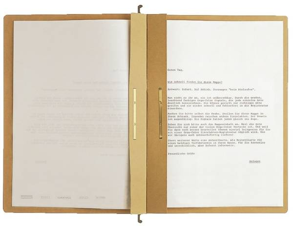1987 Hängehefter ALPHA Zweifalz, kfm und Amtsheftung, Natronkarton, naturbraun®