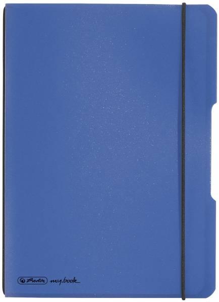 Notizheft flex A5, PP, 40 Blatt, kariert, blau