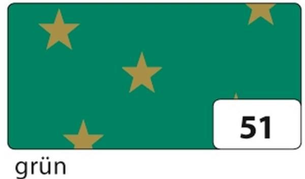FOLIA Fotokarton 50x70cm Sterne grün 5851 300g