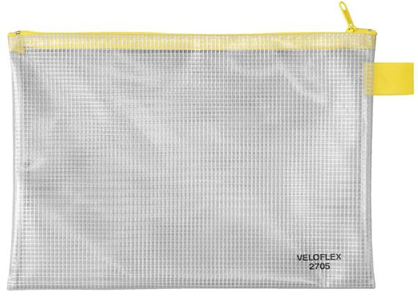 Reißverschlusstaschen transparent gelb, A5, 250 x 180 mm