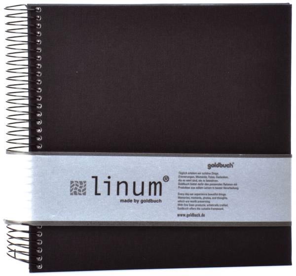 GOLDBUCH Fotospiralbuch Linum schwarz 12935 20x20cm