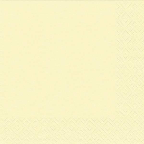 Serviette Zelltuch uni 24 x 24 cm creme