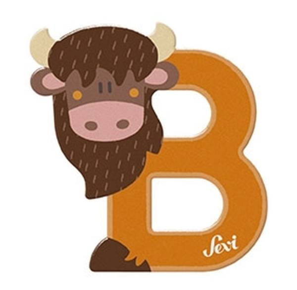 """Tierbuchstaben """"B Basset"""" 10 cm, Holz"""