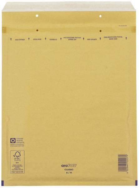 Luftpolstertaschen Nr 8, 270x360 mm, braun, 10 Stück