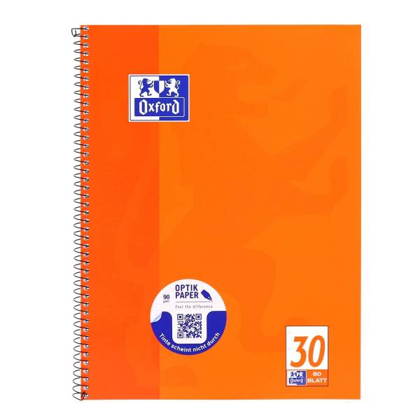 Collegeblock Lin 30 A4+, 80 Blatt, 90 g qm, 4 fach Lochung