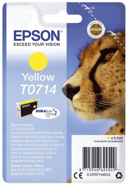 EPSON Inkjetpatrone T0714 yellow C13T07144012 5,5ml