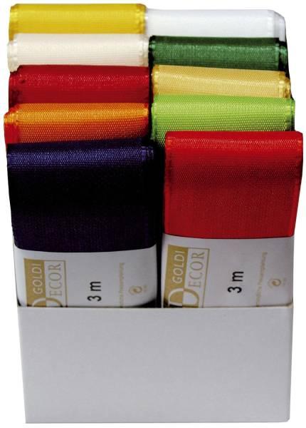 Basic Taftband 40 mm x 3 m, farbig sortiert