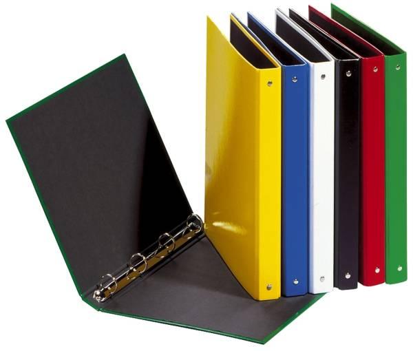 Ringbuch Basic Colours A4, 4 Ring, Ring Ø 25mm, weiß