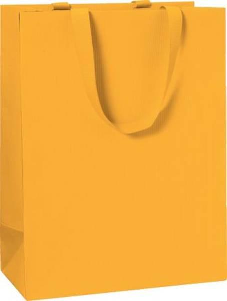 Geschenktragetasche Uni orange groß