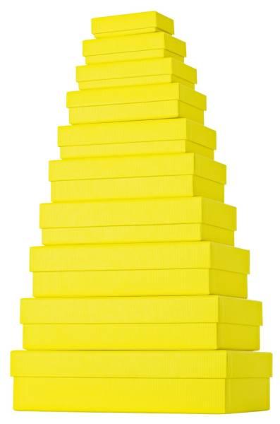 Geschenkkarton 10 tlg , flach, gelb