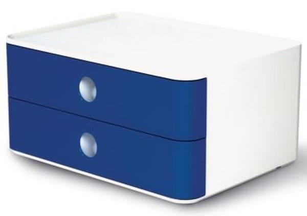 HAN Schubladenbox 2 Laden weiß/blau 1120-14 Allison