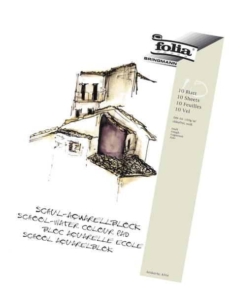 FOLIA Aquarellblock Schule A3 8353 10BL/150g