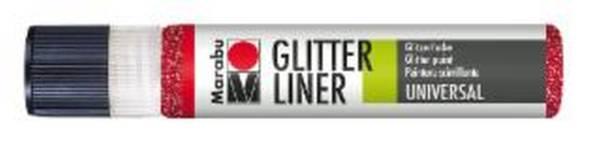 MARABU Glitter Liner 25ml rubin 1803 09 538