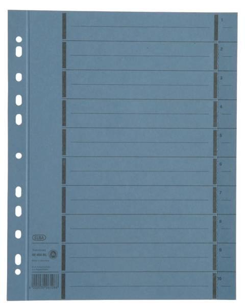 Trennblätter mit Perforation A4 Überbreite, blau, 100 Stück