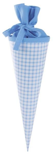 KARO Schultüte 35cm Karo blau 93013