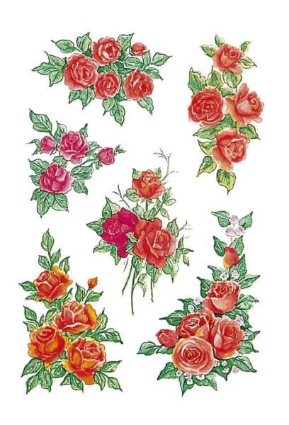 3809 Sticker DECOR Rosenbouquets