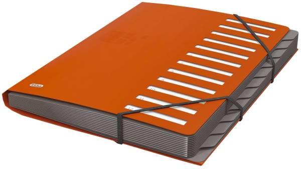 Ordnungsmappe for Business 12 Fächer, 400 Blatt, PP, orange