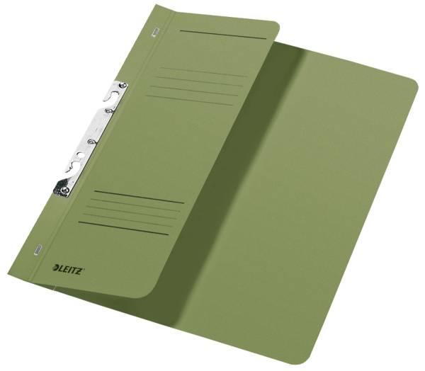 3744 Schlitzhefter, 1 2 Vorderdeckel, A4, kfm Heftung, Manilakarton 250 g qm, grün