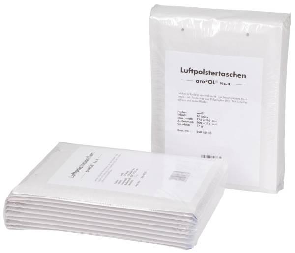 Luftpolstertaschen Nr 4, 180x265 mm, weiß, 10 Stück