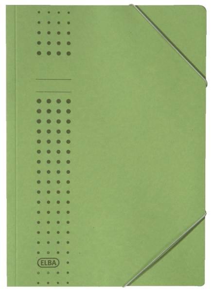 Eckspanner chic, Karton (RC), 320 g qm, A4, grün