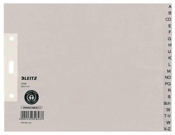 1210 Register A Z, Papier, A4 Überbreite, halbe Höhe, 20 Blatt, grau