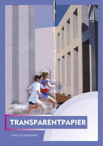 Transparentpapier Block mit 20 Blatt, 70 g qm, A4