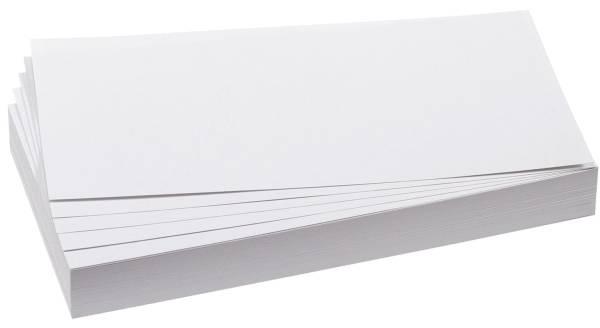 Moderationskarte, Rechteck, 205 x 95 mm, weiß, 500 Stück
