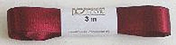 GOLDINA Doppelsatinband 15mmx3m w-rot 1172015261503