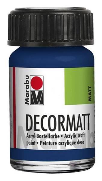 Decormatt Acryl, Dunkelblau 053, 15 ml