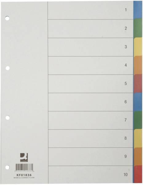 Register blanko, PP, A4, 10 Blatt, Taben 2x 5 farbig