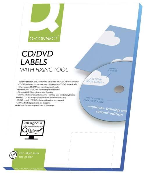 Q-CONNECT Universaletikett CD 116D 25BL KF01579