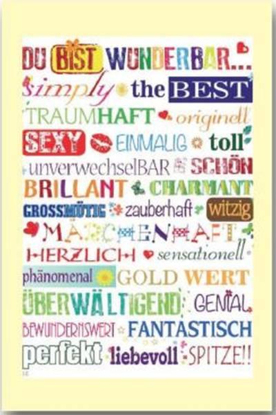 Allgem.Glückwunschkarte mit Spruch 1-A057 Bild