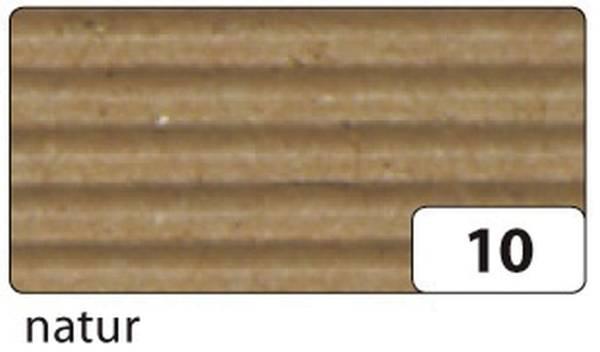 Bastelwellpappe 50 x 70 cm, natur