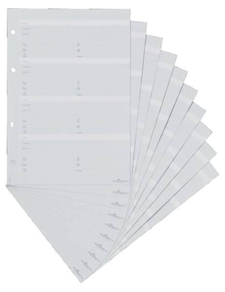 DURABLE Telefonbuch Ersatzhüllen 10ST 2456 10