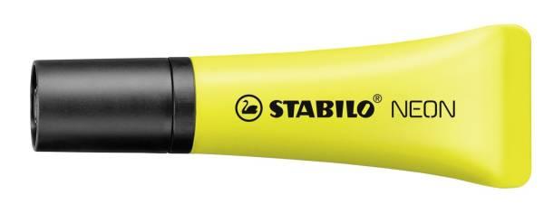 Textmarker Neon Tubenform gelb