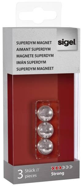 "SuperDym Magnete C5 ""Strong"", Kugel Design, Ø 12,5 mm, 3 Stück"