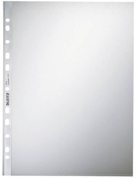 4704 Prospekthülle Standard, A4, PP, genarbt, 0,10 mm, dokumentenecht, farblos, 100 Stück