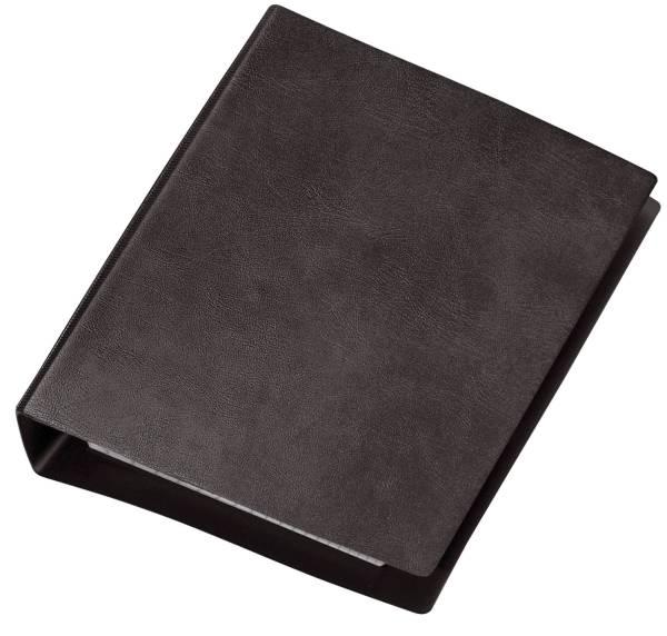 Taschenringbuch Special, schwarz, DIN A6, Ledernarbung, 4 Rund Ring Mechanik 13mm