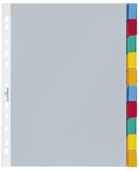 Hüllenregister Folie, blanko, transparent, A4, 10 Blatt