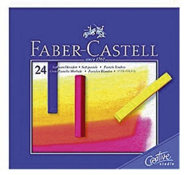 Creative Studio Softpastellkreide 24 Farben sortiert im Kartonetui