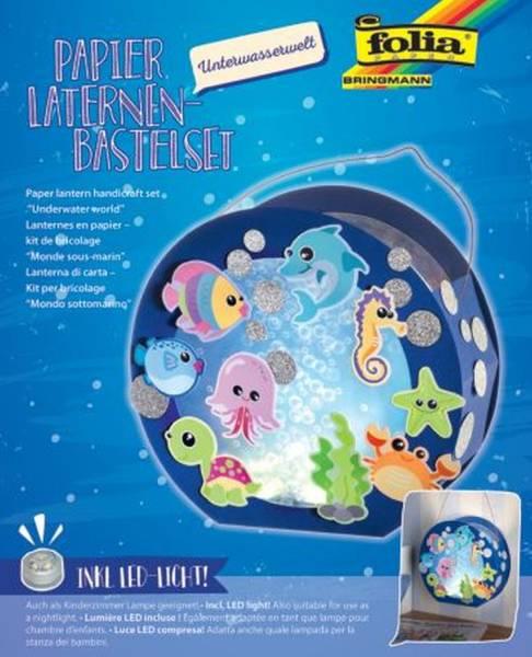 FOLIA Bastelset Laterne mit LED 68105 Unterwasserwelt