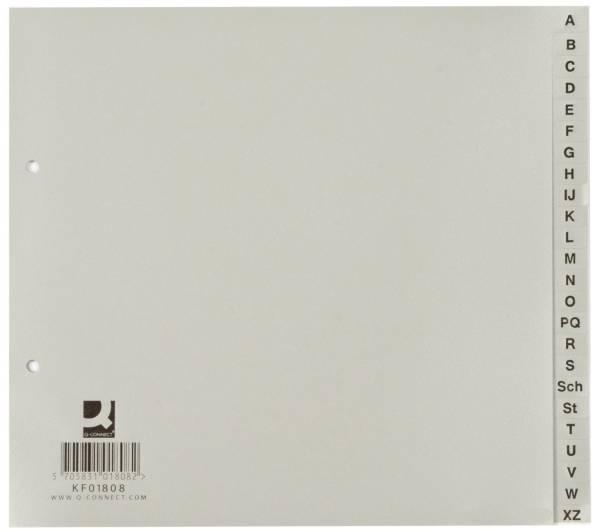 Register A Z, PP, ohne Index, A4, 21 cm hoch, 24 Blatt, grau